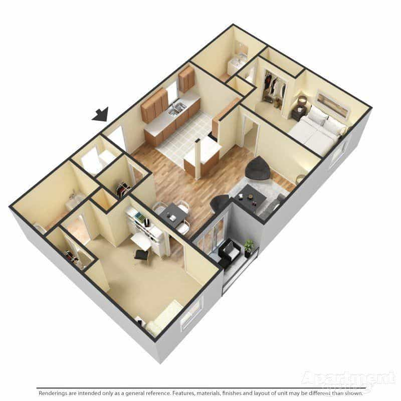 Two Bedroom Apartments in Las Cruces